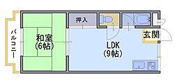 コーポユートピア[2階]の間取り
