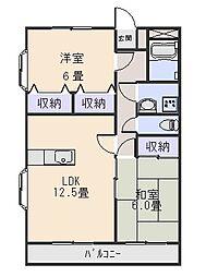 ビクトリーマンション[1階]の間取り