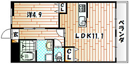 ルナキャット・クー[2階]の間取り