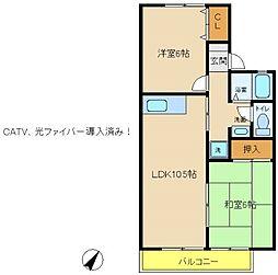 兵庫県神戸市西区池上1丁目の賃貸アパートの間取り
