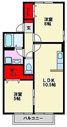 セジュール那珂川[2階]の間取り