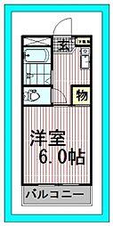 東京都江戸川区東葛西5の賃貸マンションの間取り