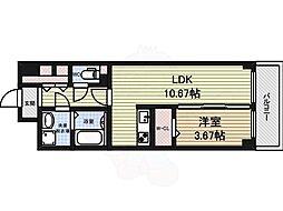 S-FORT北千種 6階1LDKの間取り