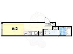 JR中央線 荻窪駅 徒歩10分の賃貸マンション 3階ワンルームの間取り