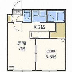 ブランノワールレサンテ514[3階]の間取り