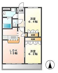 エクセルハイムN[3階]の間取り