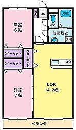 ファミーユコミヤマ[2階]の間取り