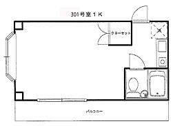 ドムール平塚第VI[301号室]の間取り