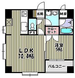 ワイズアーク堺東[2階]の間取り