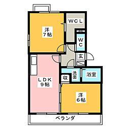 ヴィラフォレスタA[3階]の間取り