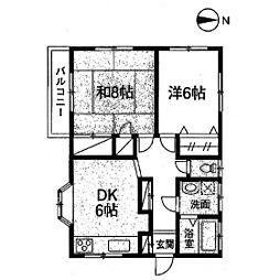 植村アパート[201号室]の間取り