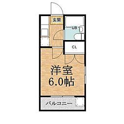 千葉県市原市辰巳台東2丁目の賃貸アパートの間取り