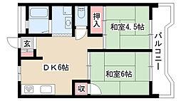 愛知県名古屋市名東区一社1の賃貸マンションの間取り