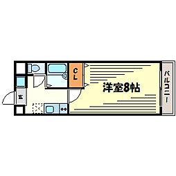 サニーサイド津門[3階]の間取り