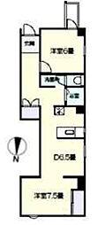 Osaka Metro千日前線 阿波座駅 徒歩5分の賃貸アパート 9階2DKの間取り