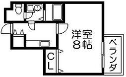 ゼファー東大阪 荒本西4 荒本6分[8階]の間取り