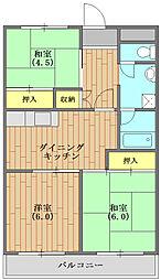 宮山第二コーポラス 207号室[207号室号室]の間取り