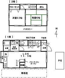 [一戸建] 神奈川県横浜市泉区下飯田町 の賃貸【/】の間取り