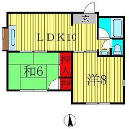 千代田アネックスビラ[1階]の間取り