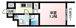 Osaka Metro御堂筋線 江坂駅 徒歩4分の賃貸マンション 3階1Kの間取り