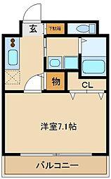 グレースA[4階]の間取り