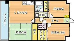 オロマーレ折尾南II[2階]の間取り