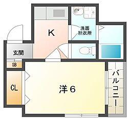 ドゥジェーム シマ[2階]の間取り