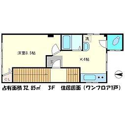 武岡ビル[4階]の間取り
