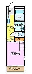 OKメゾン六会[1階]の間取り