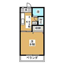 植木ハイツVI[1階]の間取り