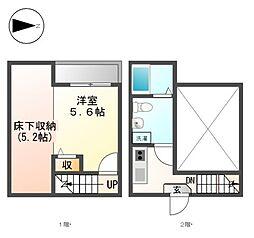 La Casa 大曽根[2階]の間取り