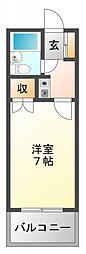 ビスタ江坂[4階]の間取り