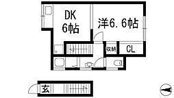 [一戸建] 兵庫県宝塚市中筋山手4丁目 の賃貸【/】の間取り