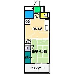 ロイヤルコートブルージュ[3階]の間取り