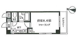 ドルックス横浜[202号室]の間取り