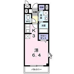 千葉県松戸市小金原4丁目の賃貸アパートの間取り