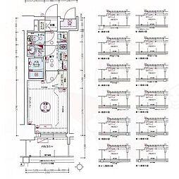 名古屋市営東山線 亀島駅 徒歩3分の賃貸マンション 11階1Kの間取り