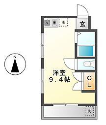 愛知県名古屋市南区曽池町2丁目の賃貸マンションの間取り