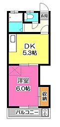 ラ・エスポワール所沢[2階]の間取り