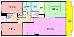 エバーグレイス森本 吉田2丁目[305号室]の間取り