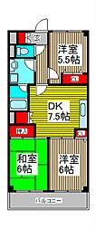 ラ・ティーグル[5階]の間取り
