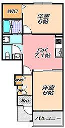兵庫県神戸市北区有野中町4丁目の賃貸マンションの間取り