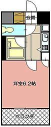 ギャラン黒崎[1006号室]の間取り