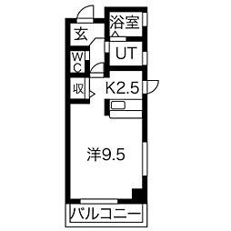 三向ハイツ今泉新町[5階]の間取り