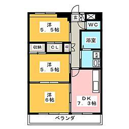 Grand Cha`teau III[2階]の間取り