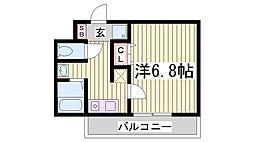 スワンズ神戸三宮イースト[9階]の間取り