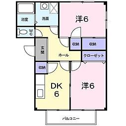 埼玉県蓮田市西城2丁目の賃貸アパートの間取り