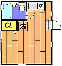 LIVE MUSASHI[101号室]の間取り