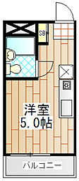 東京都町田市旭町1の賃貸アパートの間取り