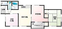 金子荘[1号室]の間取り